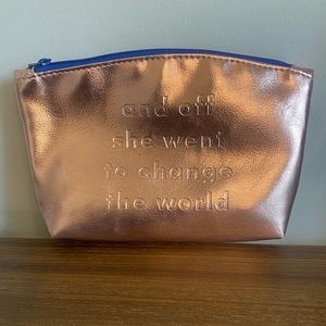 ipsy Rose Gold Inspirational Quote Pouch